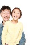 Padre giapponese e sua figlia Immagini Stock