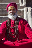 Padre Hindu, Patan, Nepal Imagem de Stock