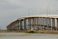Padre Island bridge in Corpus Christi, USA Stock Photo