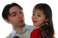 Padre joven y su hija Foto de archivo