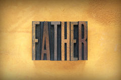 Padre Letterpress immagine stock