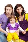 Padre, madre e figlia Fotografia Stock