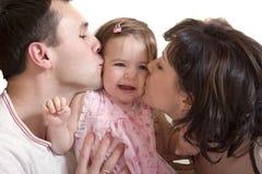 Padre, madre e hija Fotografía de archivo libre de regalías