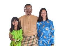 Padre malayo And Daughters I Foto de archivo libre de regalías