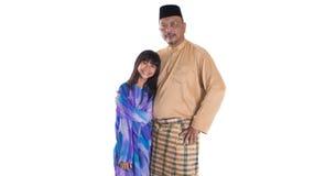 Padre malayo And Daughters III Imagen de archivo libre de regalías