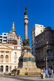 Padre Manuel da Nobrega Square in Sao Paulo, Brazil Stock Photo