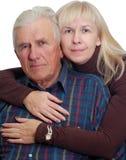 Padre mayor con su hija Imágenes de archivo libres de regalías