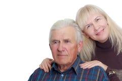 Padre mayor con su hija imagen de archivo
