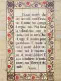 Padre Nostro. Tiles with the prayer that Jesus taught us: Our Father Stock Photography