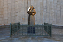 Padre Pio雕象  免版税库存图片