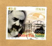 Padre pio stamp Stock Photography