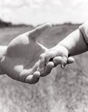 Padre que lleva a cabo poca mano Imagen de archivo libre de regalías