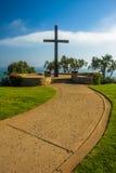 Padre Serra Cross, a Grant Park, in Ventura, California Fotografie Stock Libere da Diritti