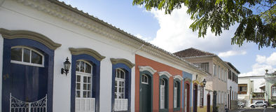 Padre Xavier Street Sao Joao del Rey Royalty Free Stock Images