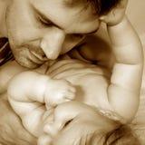 Padre y bebé Fotografía de archivo