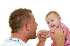 Padre y bebé Imagen de archivo libre de regalías