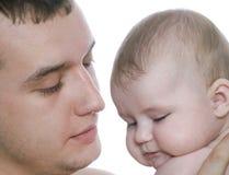 Padre y bebé foto de archivo libre de regalías