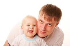 Padre y bebé. Imagen de archivo libre de regalías