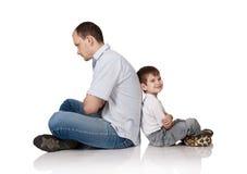 Padre y el hijo Fotografía de archivo libre de regalías
