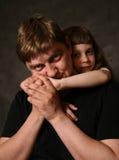 Padre y la hija Foto de archivo libre de regalías