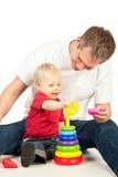 Padre y niño Fotos de archivo libres de regalías