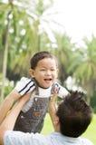 Padre y niño Fotografía de archivo