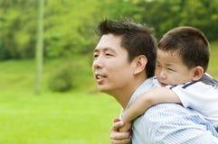 Padre y niño Imagenes de archivo