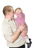 Padre y niño felices Fotografía de archivo libre de regalías