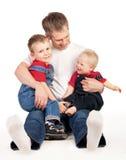 Padre y niños Imagen de archivo