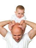 Padre y niño Imagen de archivo libre de regalías