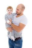 Padre y pequeño bebé Fotos de archivo libres de regalías