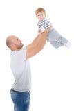 Padre y pequeño bebé Fotografía de archivo
