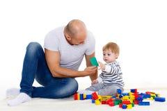 Padre y pequeño bebé Foto de archivo libre de regalías