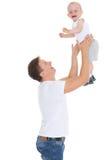 Padre y pequeño bebé Imagen de archivo libre de regalías