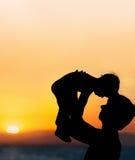 Padre y pequeño hijo Fotografía de archivo libre de regalías