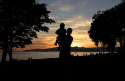 Padre y sol Fotografía de archivo libre de regalías