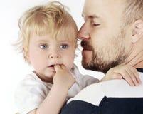 Padre y su bebé imágenes de archivo libres de regalías