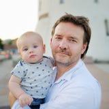Padre y su hijo Imagenes de archivo