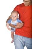 Padre y su pequeño hijo Imágenes de archivo libres de regalías