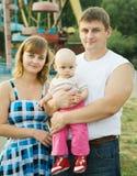 Padres con el bebé Imagenes de archivo
