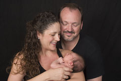 Padres con el bebé Imagen de archivo libre de regalías