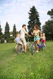 Padres con el niño Foto de archivo libre de regalías