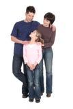 Padres con la hija Fotografía de archivo libre de regalías