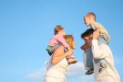 Padres con los niños Imagen de archivo