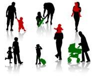 Padres con los niños stock de ilustración