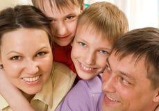 Padres con sus niños Imágenes de archivo libres de regalías