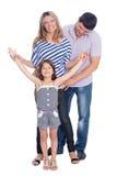 Padres e hija felices Imágenes de archivo libres de regalías