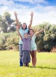Padres felices con el adolescente Imágenes de archivo libres de regalías