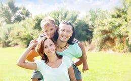 Padres felices con el hijo del adolescente Imagenes de archivo