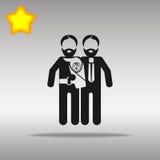 Padres gay con el niño Imágenes de archivo libres de regalías